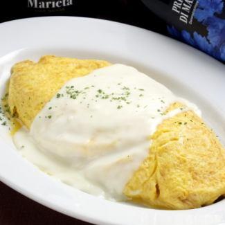 Gorgonzola cheese omelette