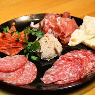 Assortment of meat appetizer