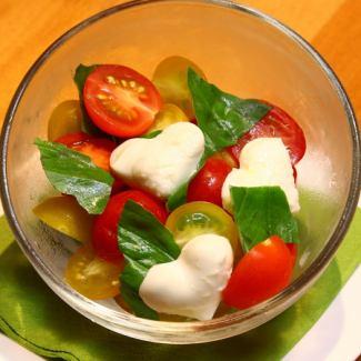 Heart mozzarella Caprese