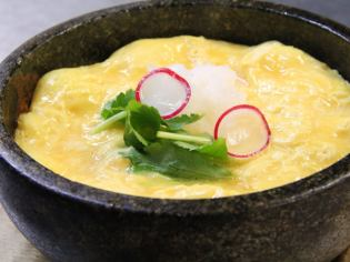 Stone grilled soup stock egg