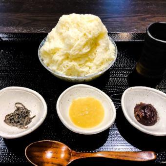 Sweet sake and sweet soybean paste Kakiko ice set