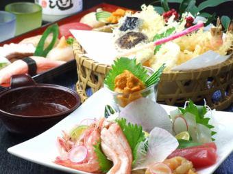 【經典宴會]豪華拼盤當然3500日元,如白天網絡鮮魚
