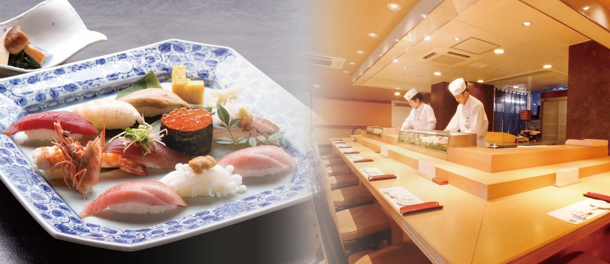 从私人和半私人房最多寿司的最好的部分让您放松的空间聚会在柜台座位的味道。