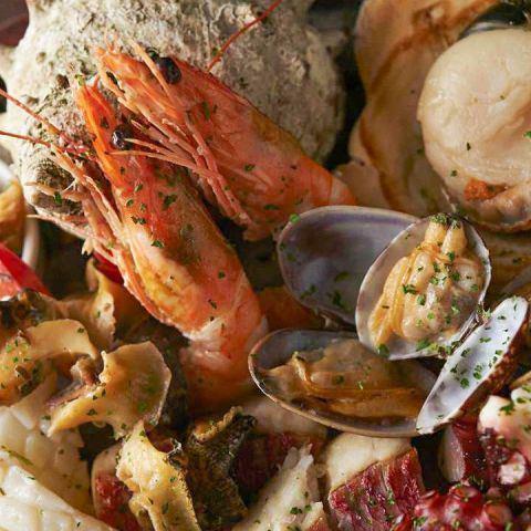 ■海鮮と国産野菜の鉄板焼き