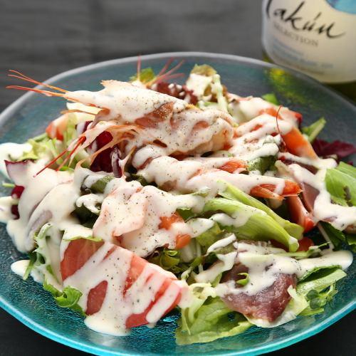海の幸の海鮮彩サラダ