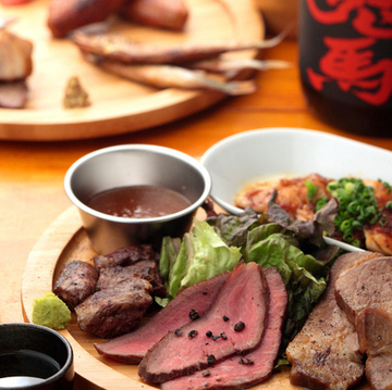 "Please enjoy the meat and smoked goods, including ""Kaiya banquet course"""