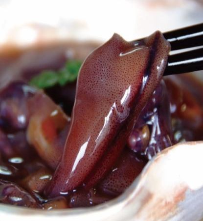Pickled squid hot-cut squid