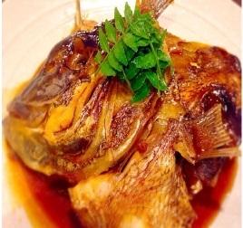 米饭用红鲷鱼,鲑鱼haras,烤鱼煮熟