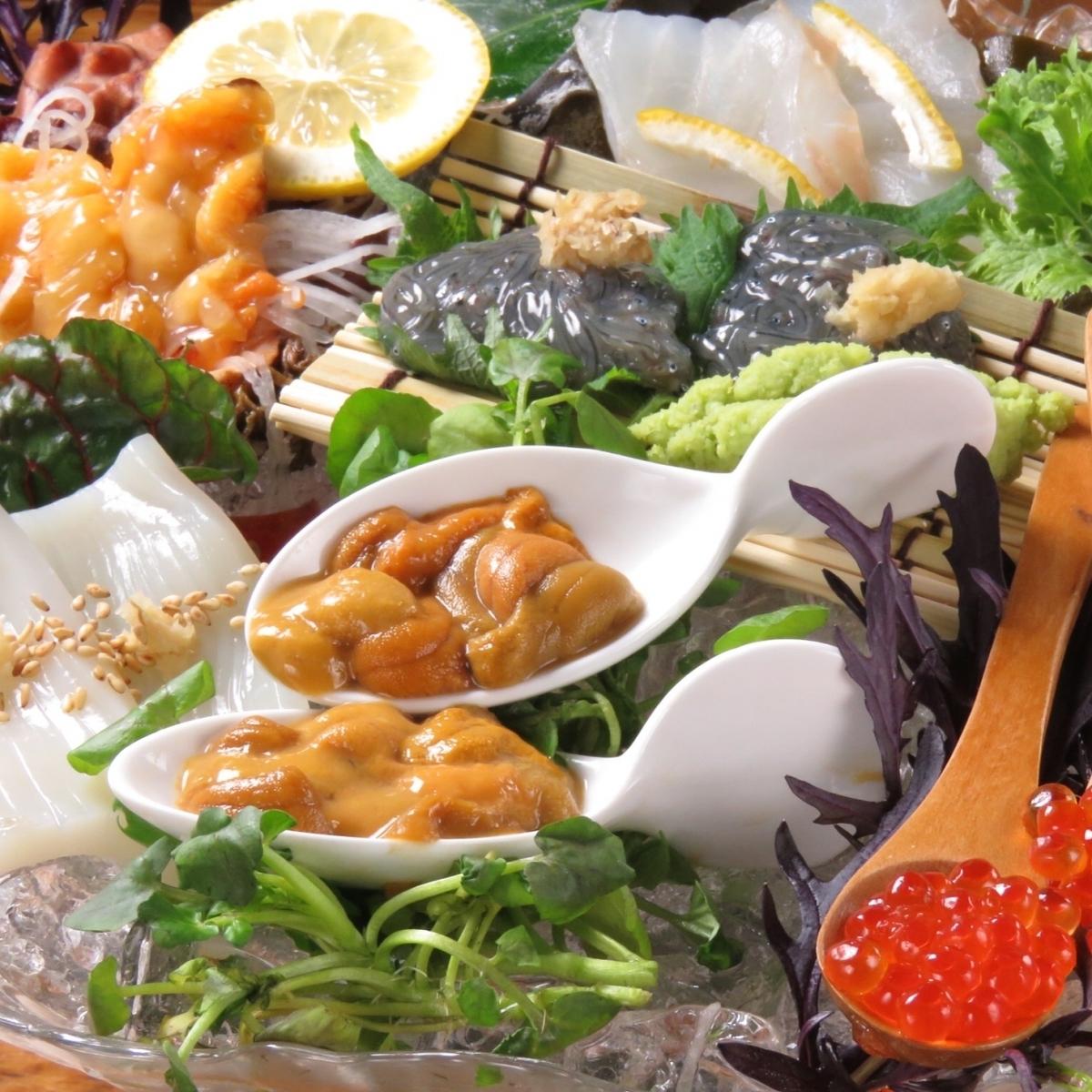 我們將製作每人1000日元的生魚片!