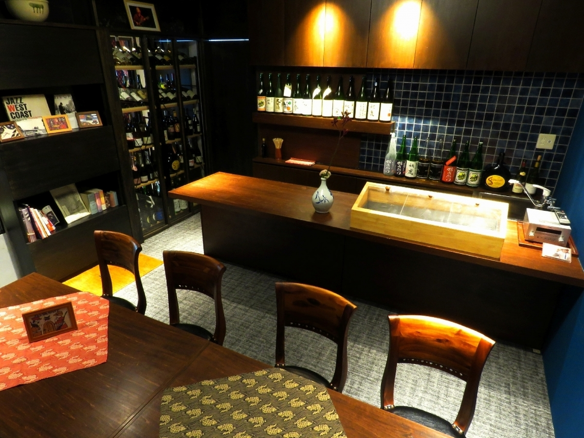 VIP seat in the back of the store.◆ Sushi course is provided here! 5000 yen / 8000 yen ※ Drinks are separated.