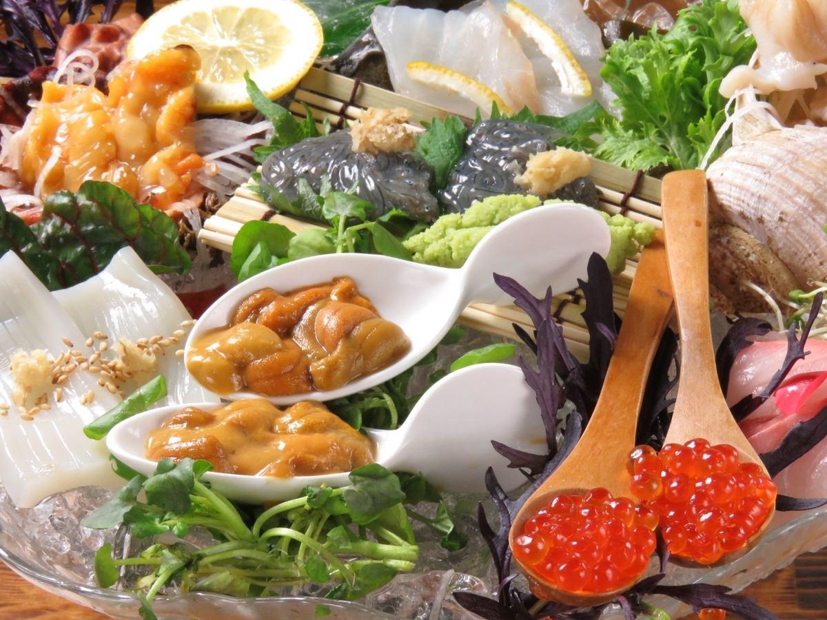 午餐時吃新鮮的海鮮!晚上開放☆