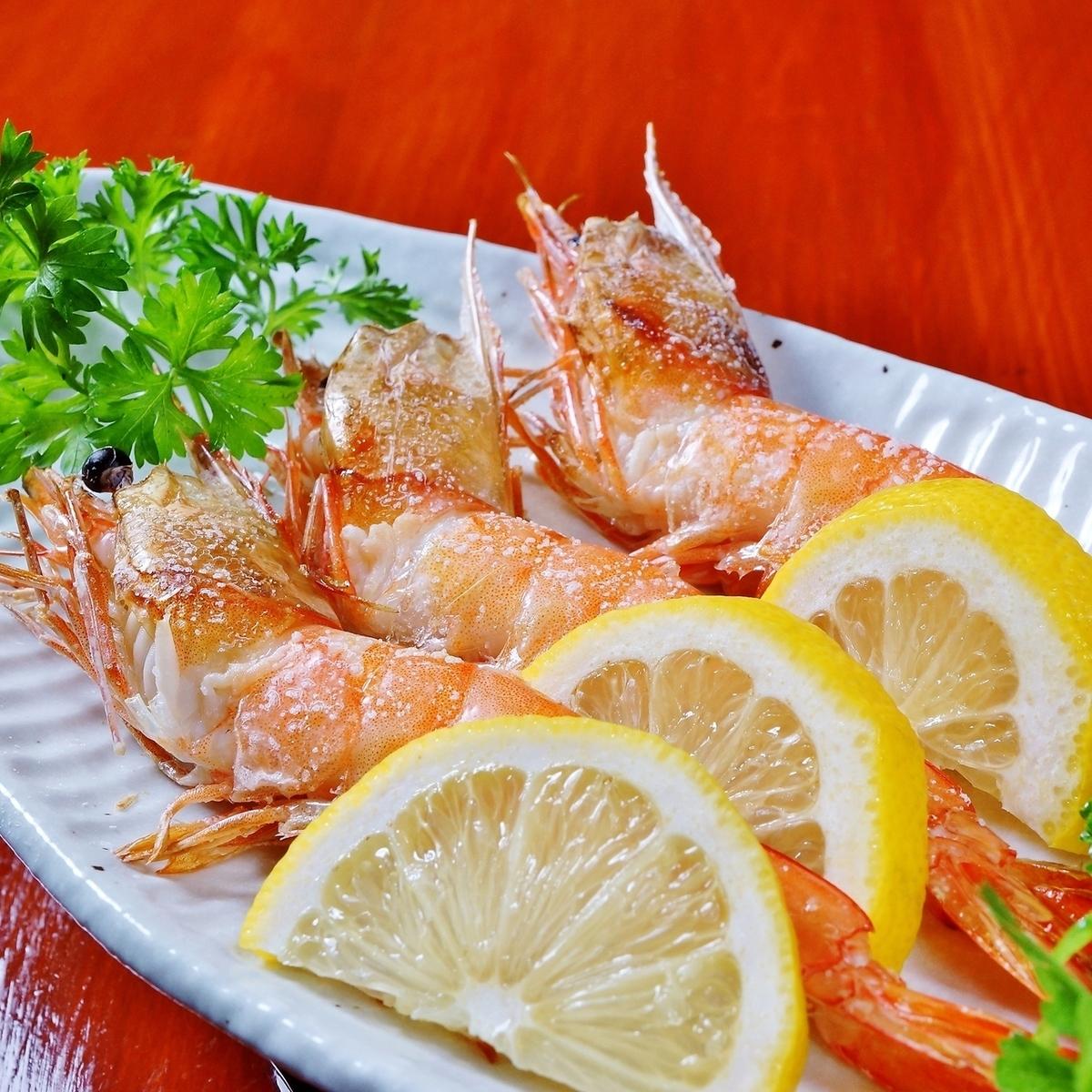 天使的虾盐烤(3条鱼)