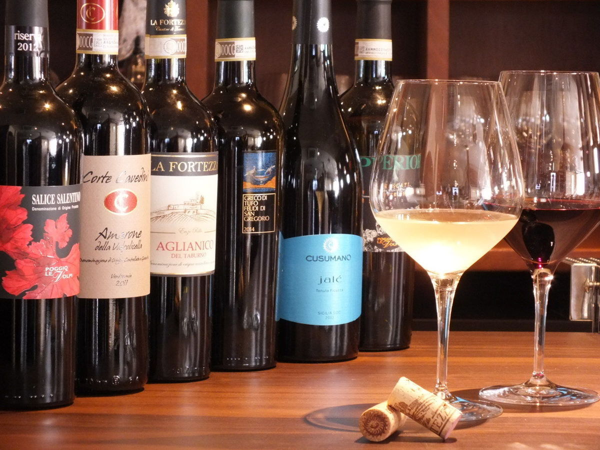 Sommelier wine selection