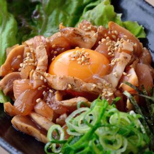 Chicken Yukke / car prawn mayonnaise