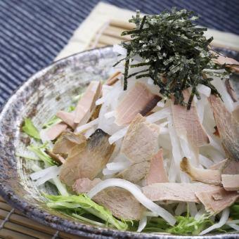 Shakyaki radish salad with raw bonito flavor