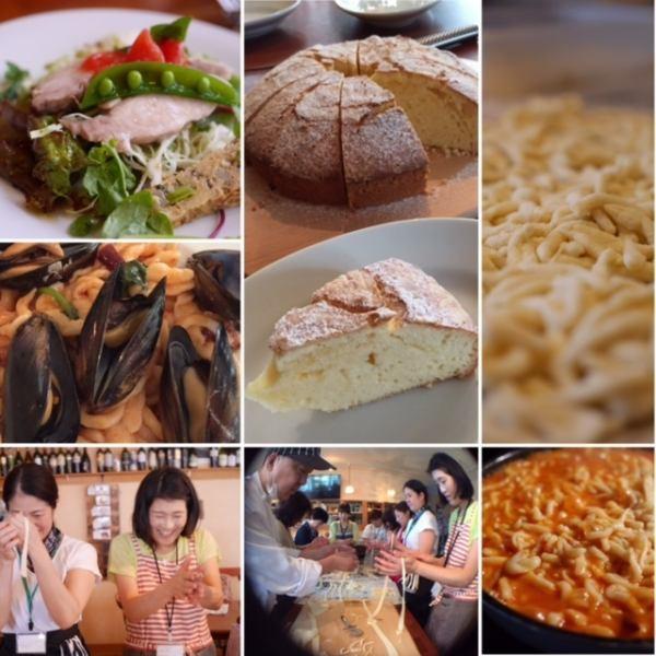 2ヶ月に一度の 料理の会(料理教室)を開催中本格イタリアンが習え、実食もできるので、喜ばれシェフのわかりやすい講習や実技指導が実に良く、シェフとその奥様(シニョーラ)とのやり取りも、おもしろい簡単で美味しい料理と手間をかけた料理どちらも学べて胃袋も満たせ 3800円で大好評