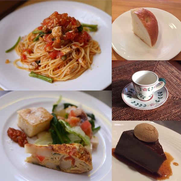 Recommended deals Lunch D set Kimaguree appetizer Pasta dish Homemade bread handmade dessert Ranch drink from