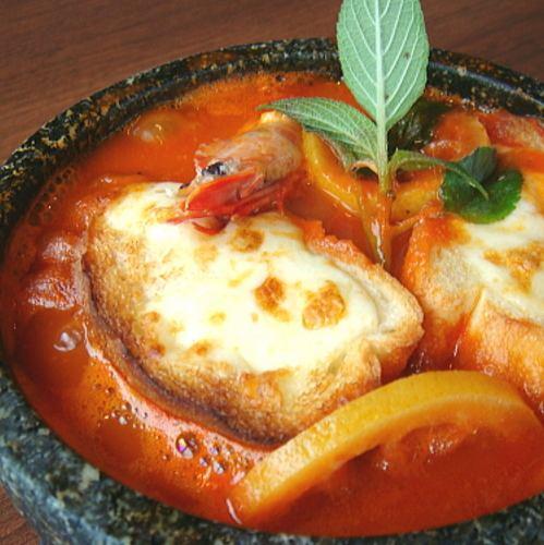 石焼きグラタンスープ風スパゲッティ