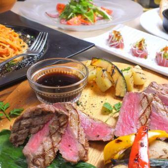 """【搭配Tariata的牛腰肉】""""2 H,所有你可以喝""""所有8项5000日元★新年派对套餐"""