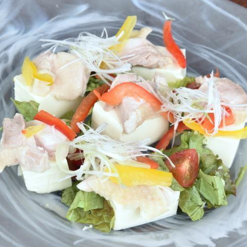 鶏と豆腐サラダ