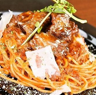 阿波牛の煮込み入り味噌ミートソーススパゲッティ