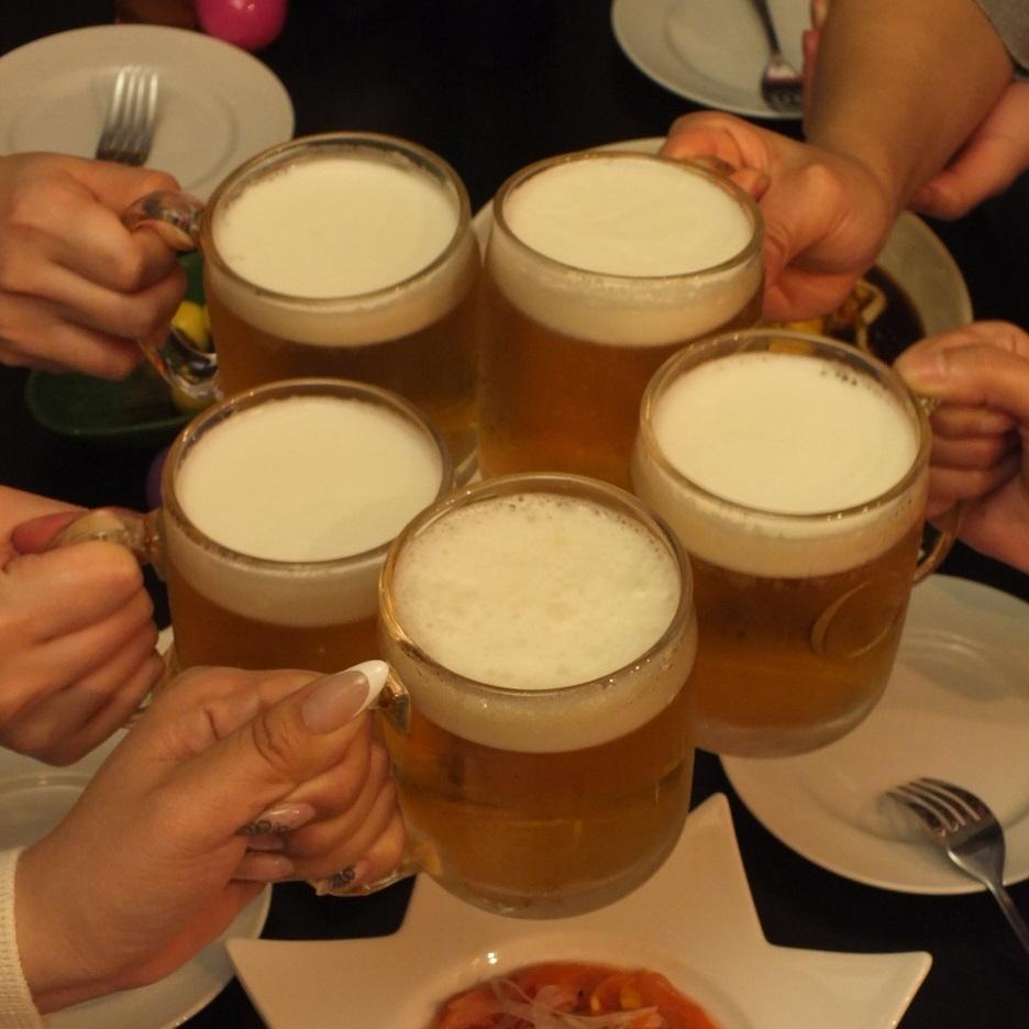 乾杯はみんなでビール!!