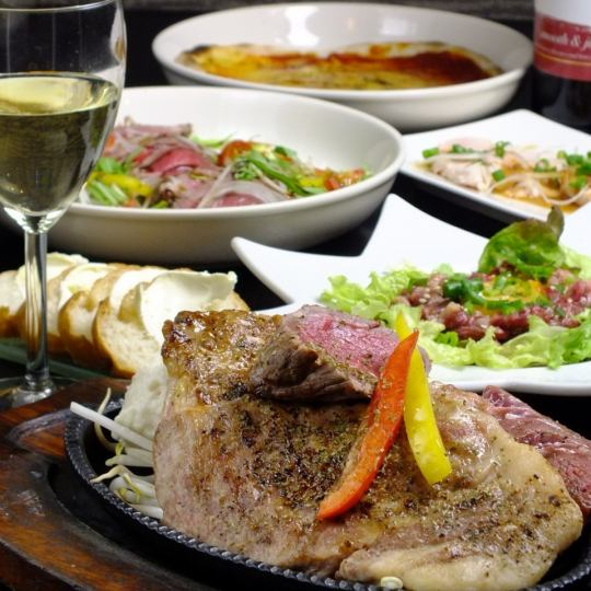【Discount ★】 meat exhaustion course 9 items 2H drinking and sipping normally 5000 ⇒ 2780 yen (tax excluded) night cafe course 3980 ⇒ 1980 yen