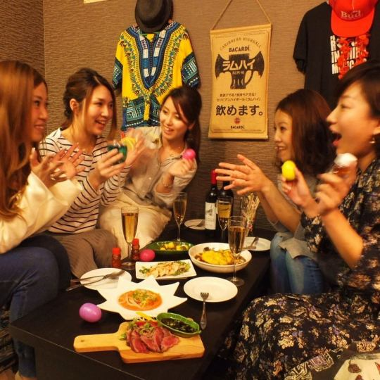 【Banquet with sofa slowly】 3h Girls party course with unlimited drinking course ☆ ☆ (9 items in total) 2 people ~