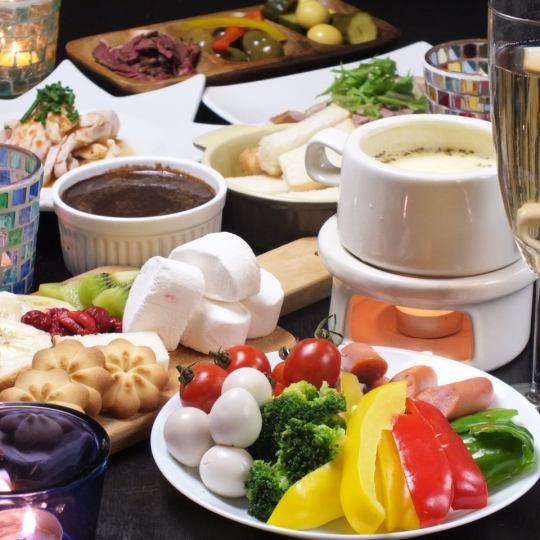 【奶酪火锅和大量的你可以喝♪】大理石特殊女孩派对当然2980日元