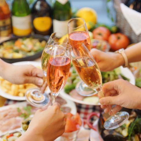 120分钟饮酒附件★午餐派对计划2800日元!◎在妈妈派对和女子协会