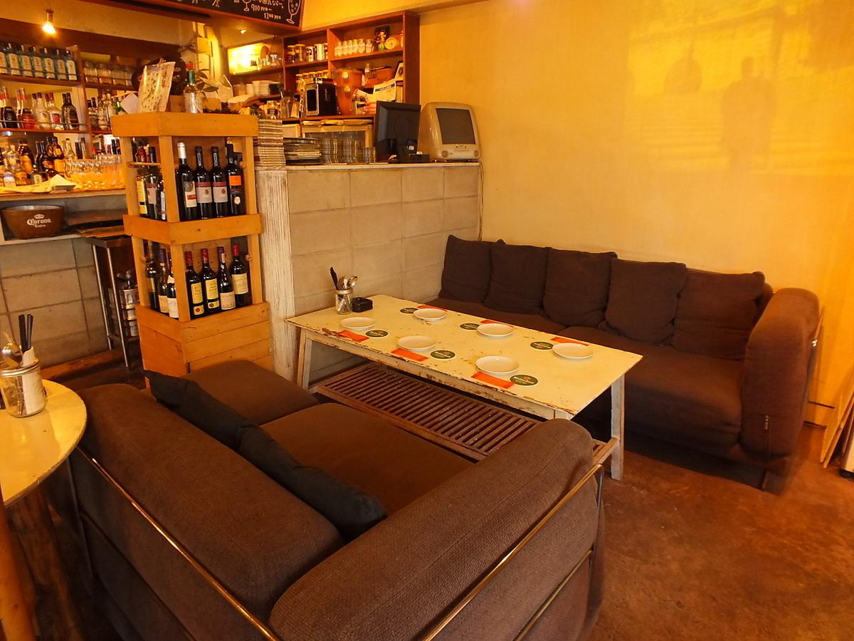 寬鬆的沙發很豪華♪