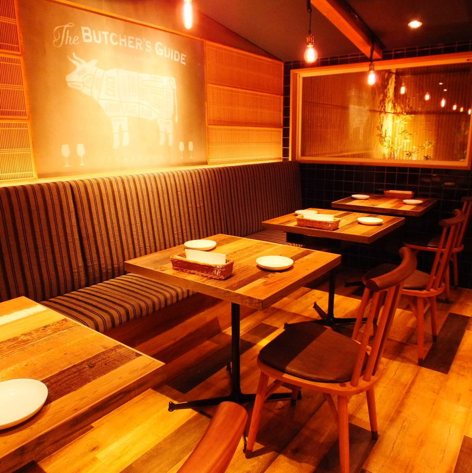 2 to 10 table seats that can accommodate up to the name.Renovation of Nagaya, directing cozy space.