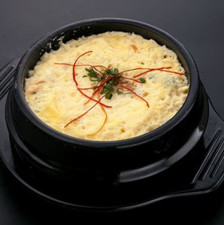 Korean style chawan mushi / a thousand chicken with rice vinegar