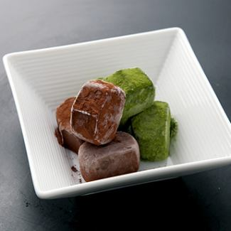 Raw chocolate ice (matcha taste) / (chocolate taste) / (mix) / fruit ice ball