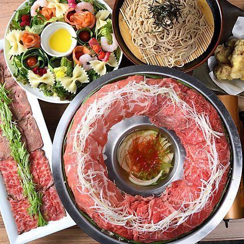 もち豚と飛騨牛の肉炊き