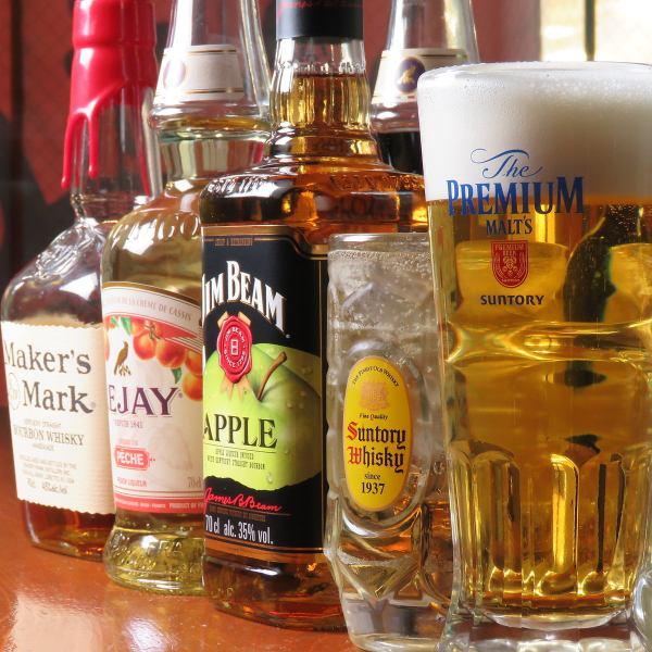豊富な種類のお酒をご用意!オススメはハイボールです★
