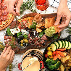 【All you can eat & all you can drink】 3 h All you can drink + homemade roast beef & cheese fondue All you can eat 9 items 3280 yen