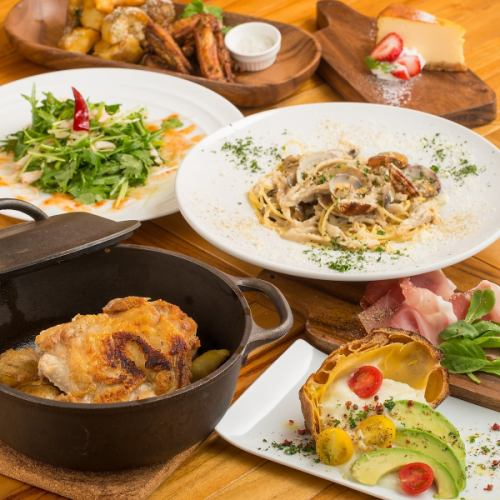 【Lunch】 Unlimited time with unlimited drinks + Standard 6 items 1980 yen Popular for girls' association · mama chance · charter