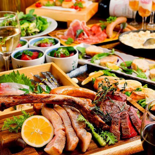 【肉三昧コース】人気メニューが食べれる飲み放題付きコースは4500円(税込)