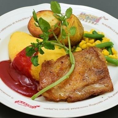 벚꽃 공주 닭 마늘 치킨 오므라이스