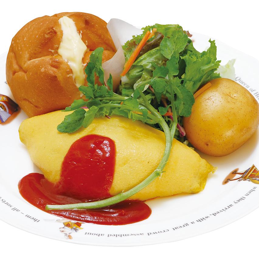 KUKU chicken rice mozzarella cheese omelet rice