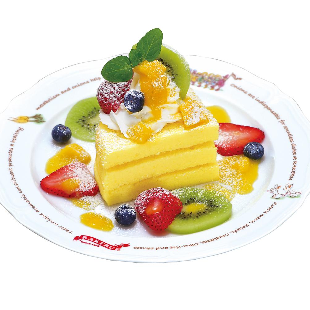 과일 커스터드 케이크