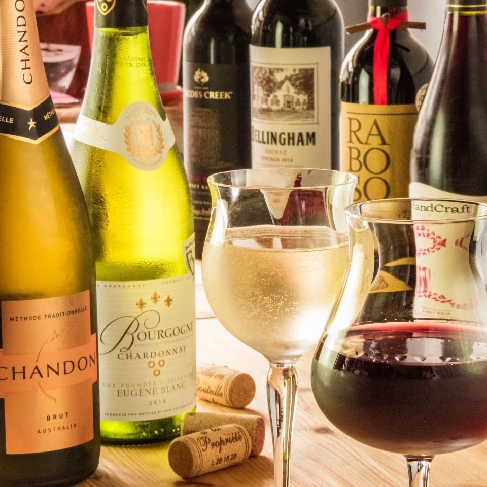 ジビエに合う季節のワインをご用意♪