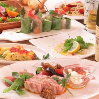 【All-you-can-drink for 2 hours】 ★ Monday to Thursday Limited ★ Not fattening!? Easy Italian course 4000 yen (tax included)