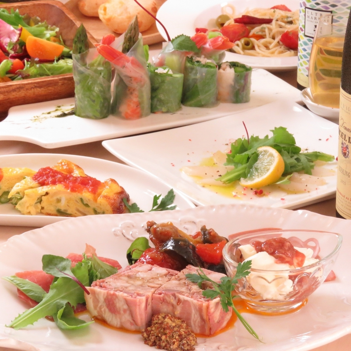 Take time to spare time from appetizers.Appetizer assortment is recommended ♪