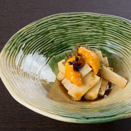 長芋とウニのトンプリ和え