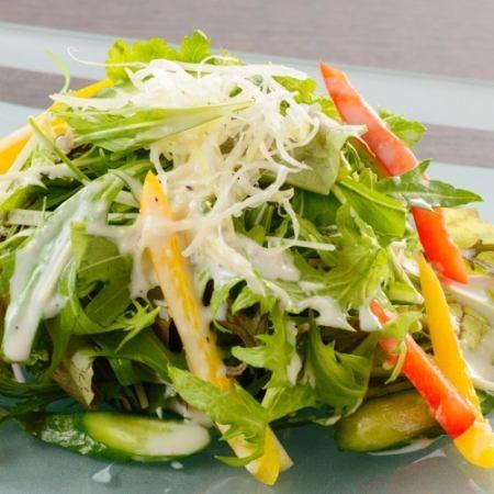 有機野菜の健康サラダ
