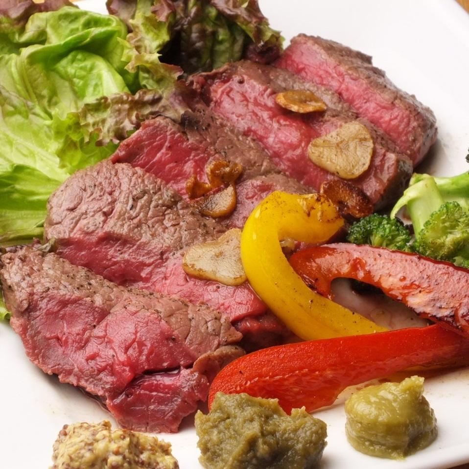 Kuroge Wagyu beef steak ♪