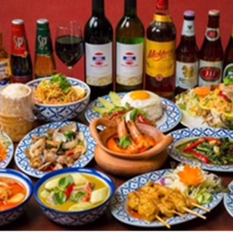 Masala厨房的泰国菜标准【共8项】2小时,你可以喝!«泰国A课程»3990日元(不含税)
