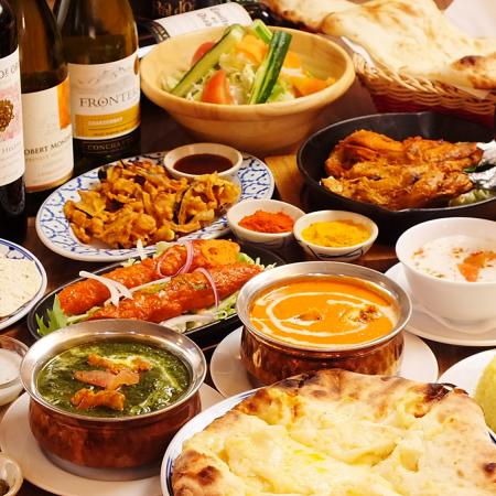 【年終派對套餐】所有的飲品包括啤酒和葡萄酒3小時!還有10道菜的大菜!